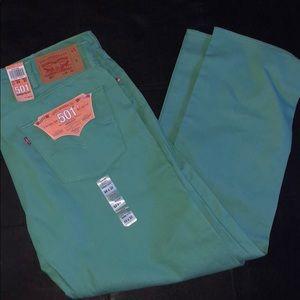 Levi's Original Fit Button Fly Straight Leg Jeans